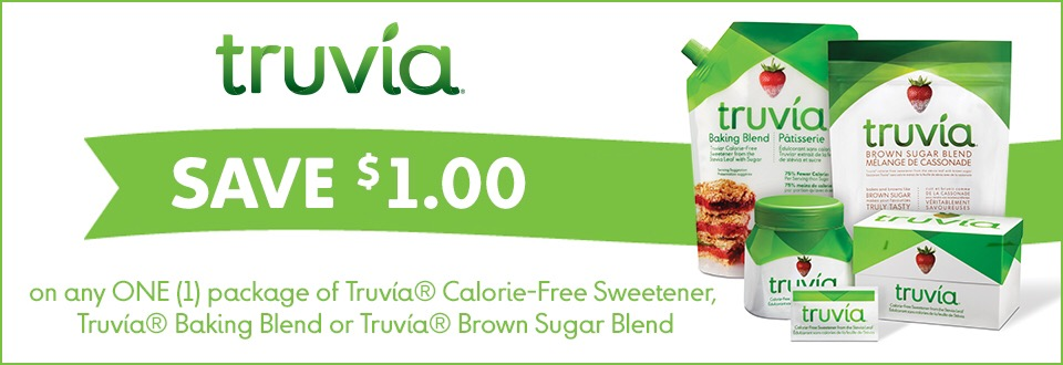 Shopping Tips for Truvia: 1. Truvia is a natural sweetener that can be used in your morning coffee or baking recipes. The best coupon is $1 off.
