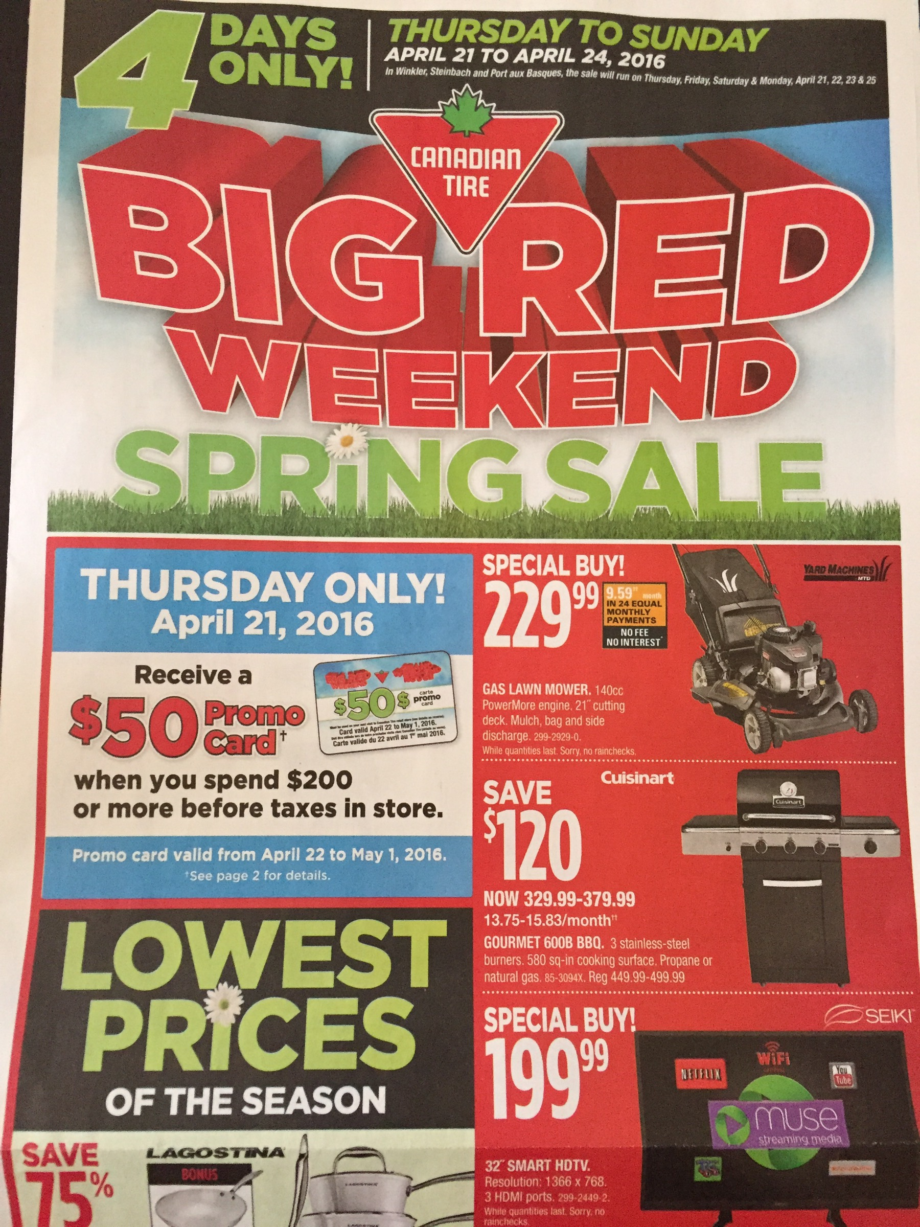 Canadian Tire Big Red Weekend Spring Sale April 21 24 Sweet Surprises